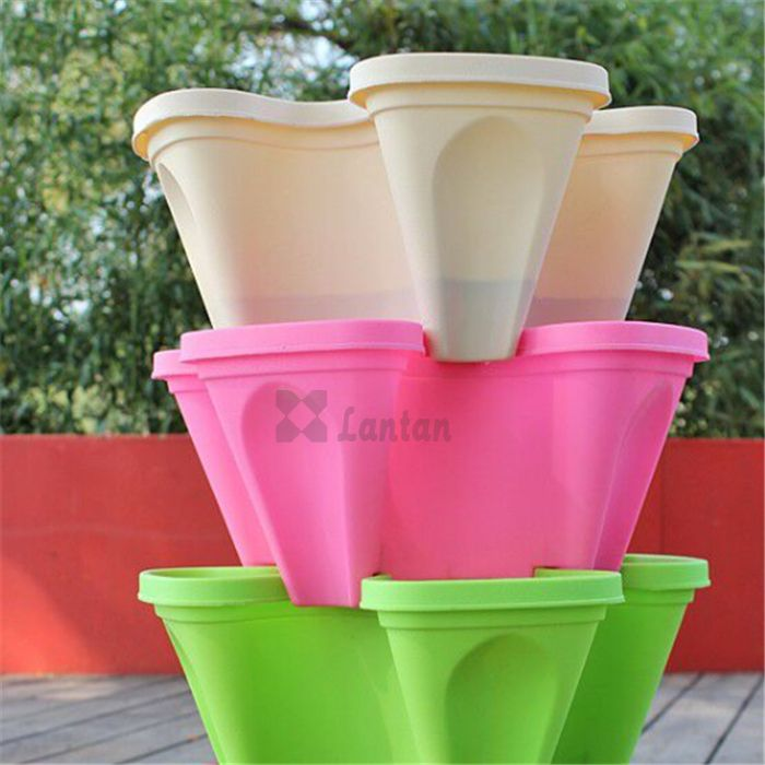 pp stacking flower pots