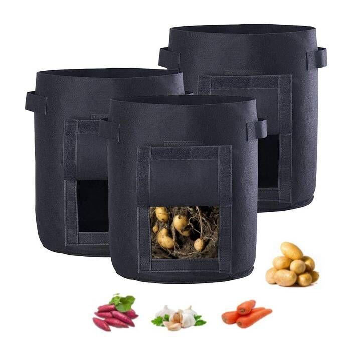 Felt Potato planting pots/bags with many colors